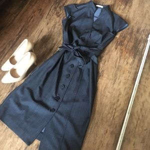 Calvin Klein Denim Belted Shirt Dress Size 4